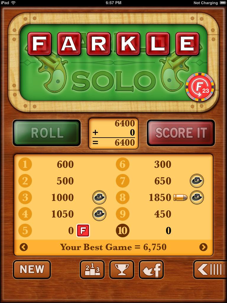 Farkle Solo Farkle